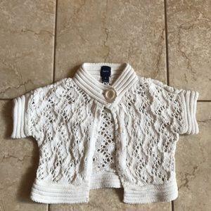 Girl's Gap size medium/8 white crochet look shrug